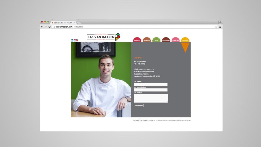 Bas van Haaren webdesign